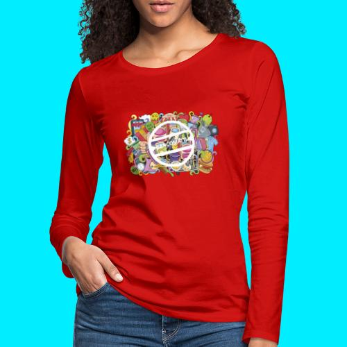 maglia logo doodle - Maglietta Premium a manica lunga da donna