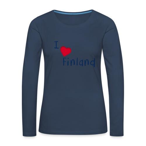 I Love Finland - Naisten premium pitkähihainen t-paita
