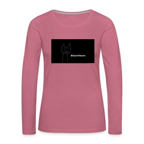 biisonivauva - Naisten premium pitkähihainen t-paita