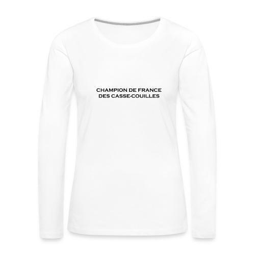 design castres - T-shirt manches longues Premium Femme