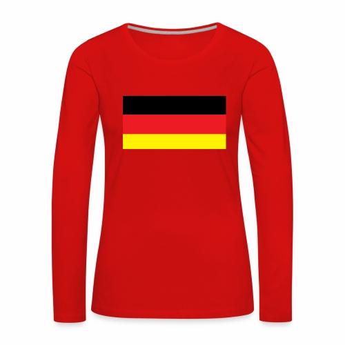 Deutschland Weltmeisterschaft Fußball - Frauen Premium Langarmshirt