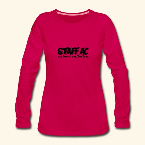 staffACnero - Maglietta Premium a manica lunga da donna
