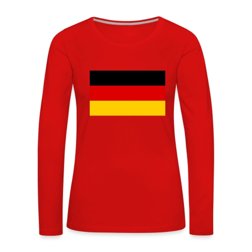 2000px Flag of Germany svg - Frauen Premium Langarmshirt