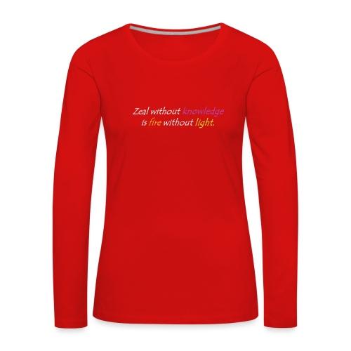 Say with colors - Women's Premium Longsleeve Shirt