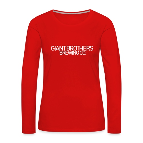 Giant Brothers Brewing co white - Långärmad premium-T-shirt dam