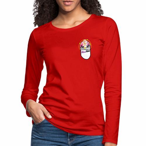 Nina Nice Pocket - Frauen Premium Langarmshirt