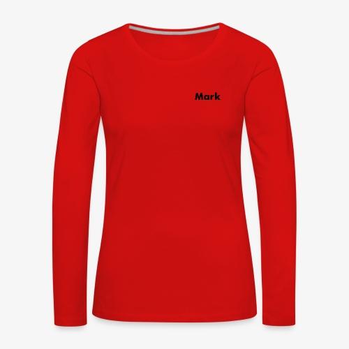 Mark Logo - Frauen Premium Langarmshirt