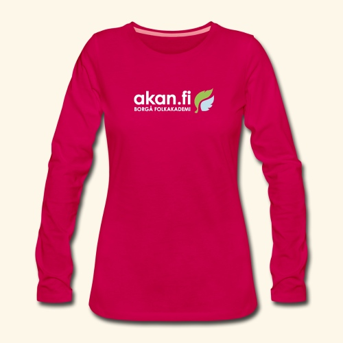 Akan White - Långärmad premium-T-shirt dam