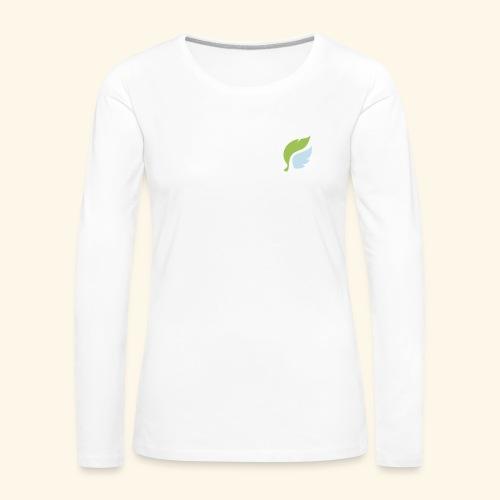 Akan White - Naisten premium pitkähihainen t-paita