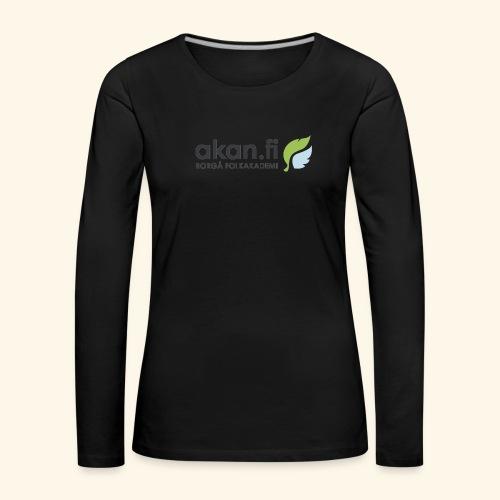 Akan Black - Naisten premium pitkähihainen t-paita