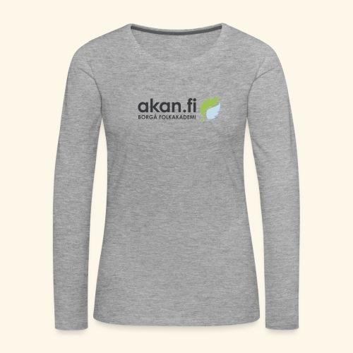 Akan Black - Långärmad premium-T-shirt dam