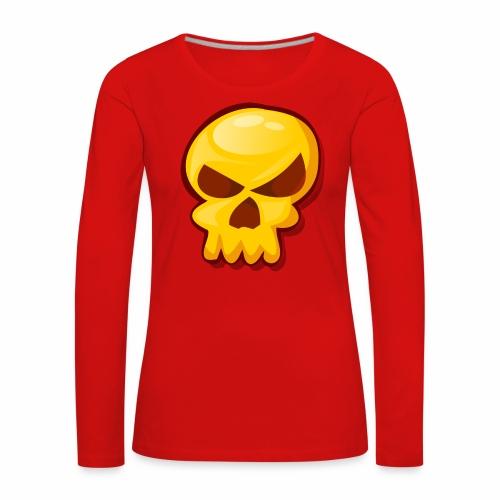 Golden Skull - Camiseta de manga larga premium mujer