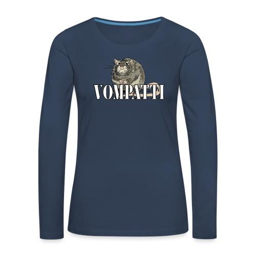 Vompatti - Naisten premium pitkähihainen t-paita