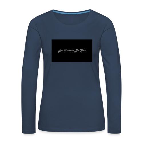 Be yourself - Women's Premium Longsleeve Shirt