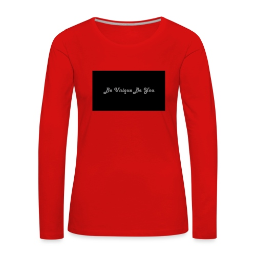 Be yourself - Women's Premium Longsleeve Shirt