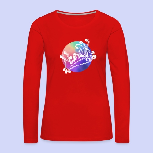 pastel rainbow, NuniDK Collection - Female top - Dame premium T-shirt med lange ærmer