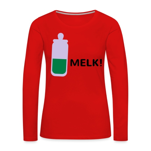 Grappige Rompertjes: Melk - Vrouwen Premium shirt met lange mouwen