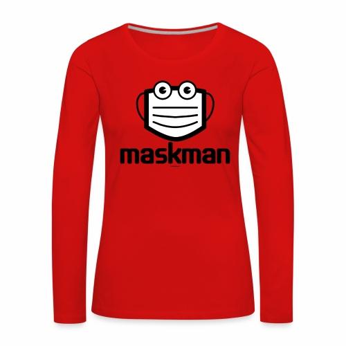 Maskman - Vrouwen Premium shirt met lange mouwen