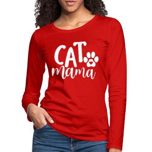 CAT MAMA - T-shirt manches longues Premium Femme