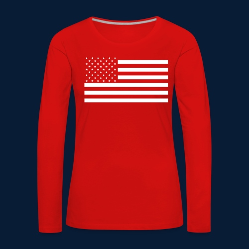 Stars and Stripes White - Frauen Premium Langarmshirt