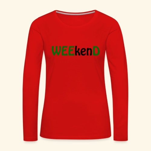 weed - Frauen Premium Langarmshirt