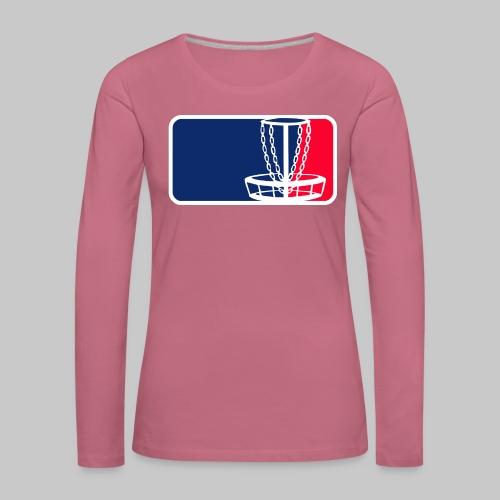 Disc golf - Naisten premium pitkähihainen t-paita