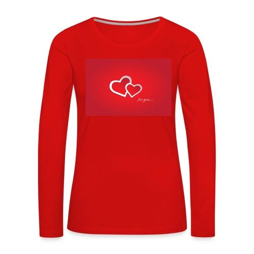 for you - Frauen Premium Langarmshirt