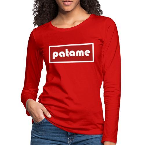 patame Logo - Frauen Premium Langarmshirt