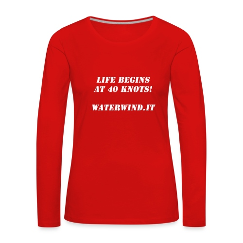 Life Begins bianco - Women's Premium Longsleeve Shirt