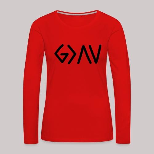 Dios es lo más grande - Camiseta de manga larga premium mujer