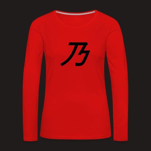 B Logo - Dame premium T-shirt med lange ærmer