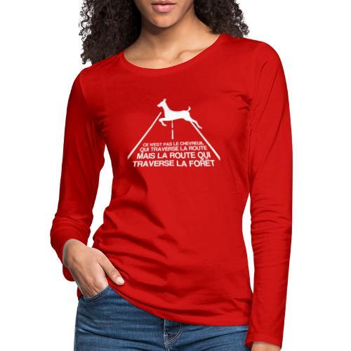 Chevreuil blanc - T-shirt manches longues Premium Femme