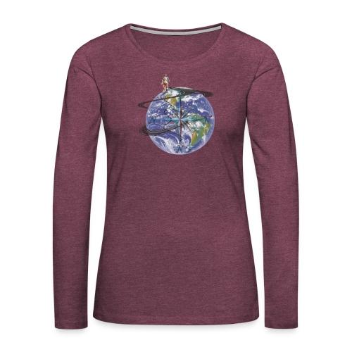 homme terre expression - T-shirt manches longues Premium Femme