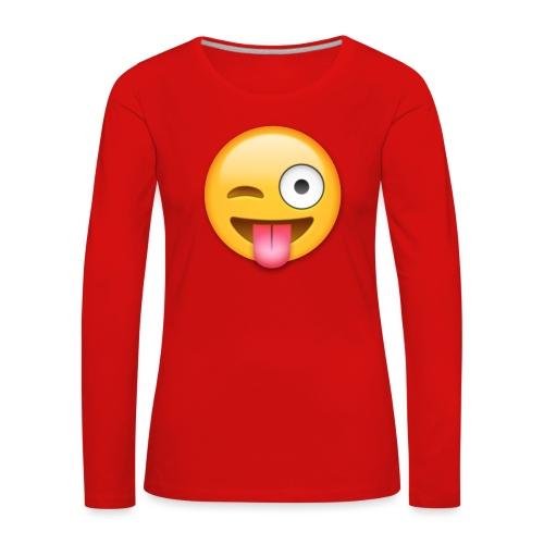 Winking Face - Frauen Premium Langarmshirt