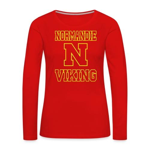 Normandie Viking Def jaune - T-shirt manches longues Premium Femme