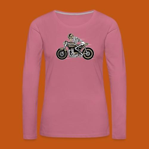 Cafe Racer Motorrad 05_dreifarbig - Frauen Premium Langarmshirt