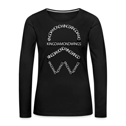King Diamond Wings Logo - Women's Premium Longsleeve Shirt