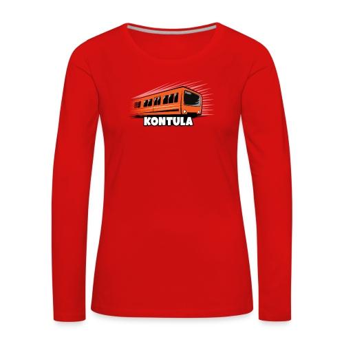 06-KONTULA HELSINKI tekstiili- ja lahjatuotteet - Naisten premium pitkähihainen t-paita