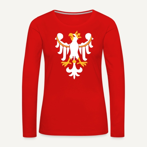 Orzeł Piastowski - Koszulka damska Premium z długim rękawem