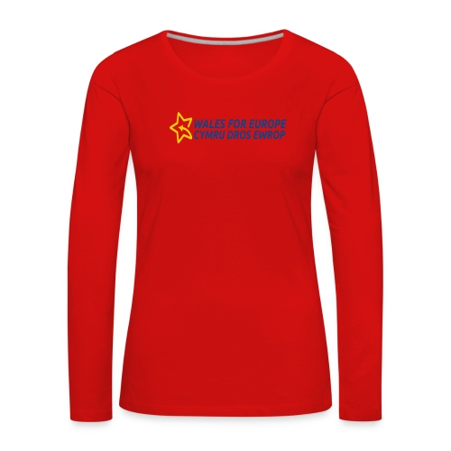 Peoples Vote Remain in EU - Naisten premium pitkähihainen t-paita