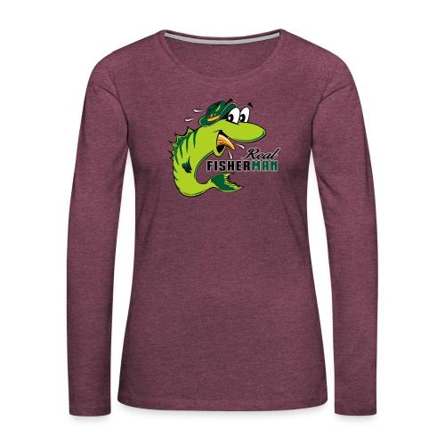 10-38 REAL FISHERMAN - TODELLINEN KALASTAJA - Naisten premium pitkähihainen t-paita