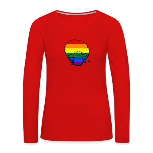 Rainbow Pride Sheep - Koszulka damska Premium z długim rękawem