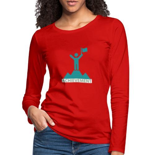 Typo Achiement by CloudMonde - Women's Premium Longsleeve Shirt