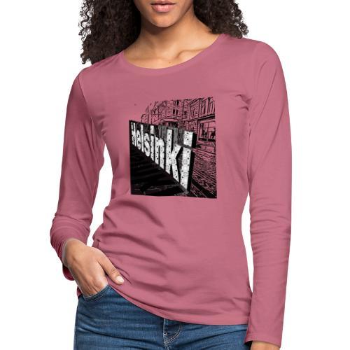 Helsinki tram Typo - Women's Premium Longsleeve Shirt