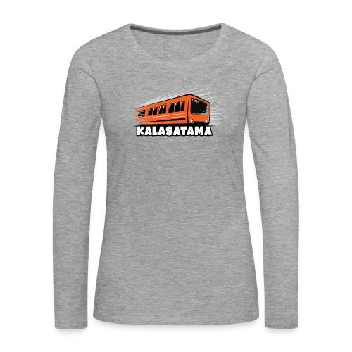 11- METRO KALASATAMA - HELSINKI - LAHJATUOTTEET - Naisten premium pitkähihainen t-paita