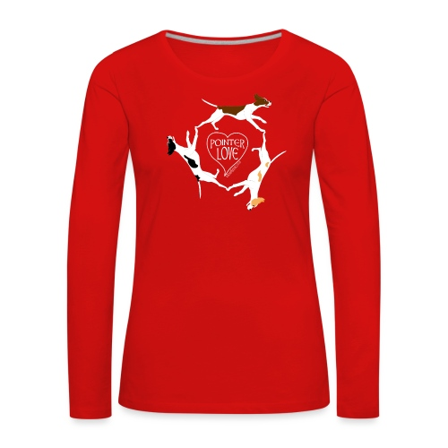 Three pointers heart 1 - Women's Premium Longsleeve Shirt