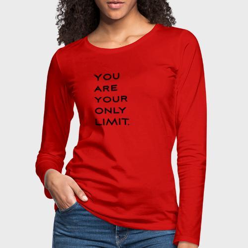 Limit Black - Frauen Premium Langarmshirt