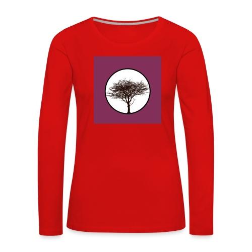Baum in Kreis - Frauen Premium Langarmshirt