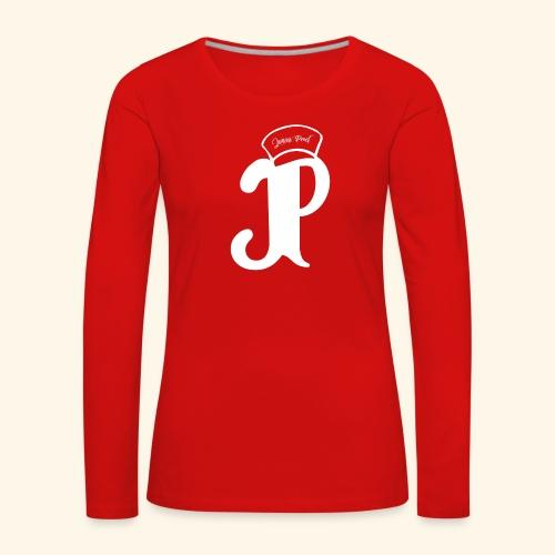 Jimini Prod' Logo Blanc - T-shirt manches longues Premium Femme