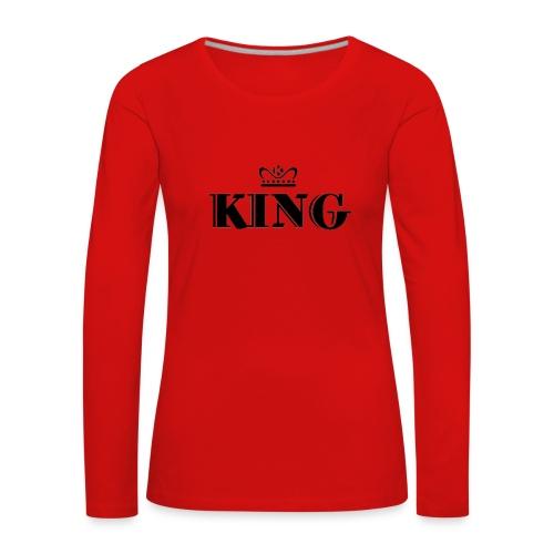 King - Frauen Premium Langarmshirt